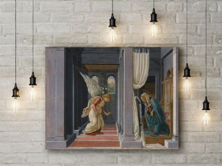 Sandro Botticelli: The Annunciation.  Religious Fine Art Canvas.